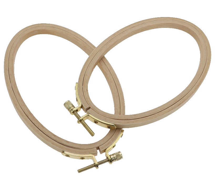 Oval Beech Wood Hoops for Embroidery and Needlework 02
